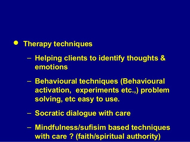  Structural changes in therapy – Place of therapy, number of sessions, starting therapy while in patient , twice a week s...