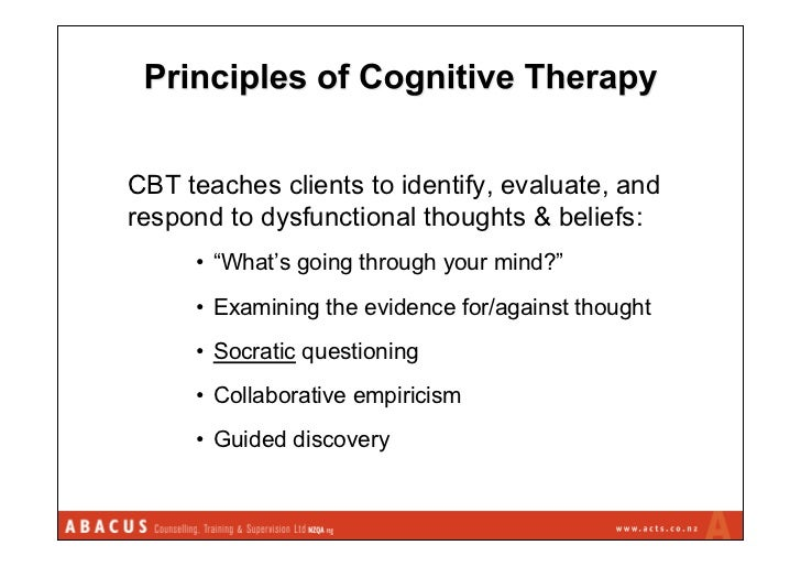 socratic questioning guided discovery Socratic dialogue helps to challenge maladaptive beliefs and assumptions   the three-question technique is a form of guided discovery • clients are often.