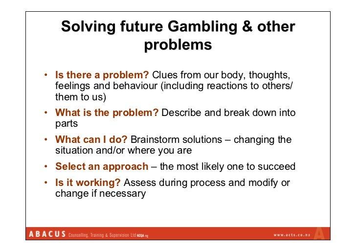 Problem gambling cbt