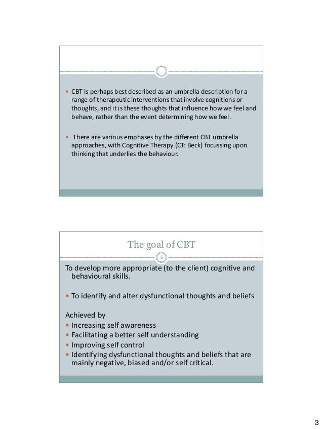 Cognitive Behavioural & Relapse Prevention Strategies - University Limerick Slide 3