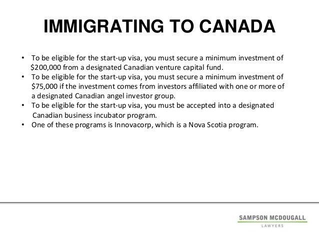 Immigrant Investor Program