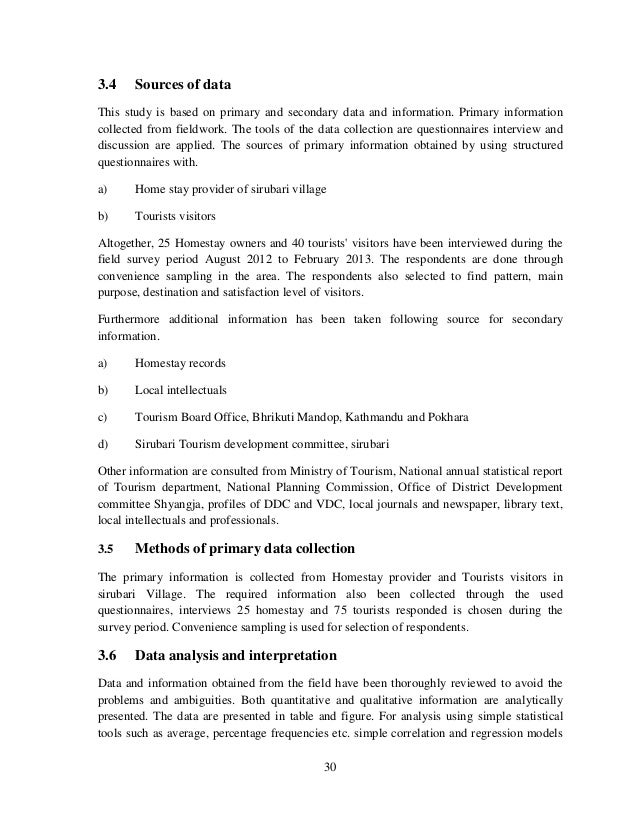 tourism management thesis proposal