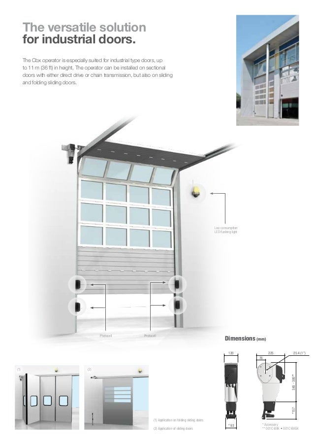 OPERATOR FOR SLIDING AND SECTIONAL DOORS Cbx; 2.  sc 1 st  SlideShare & CAME CBX OPERATOR FOR SLIDING AND SECTIONAL DOORS