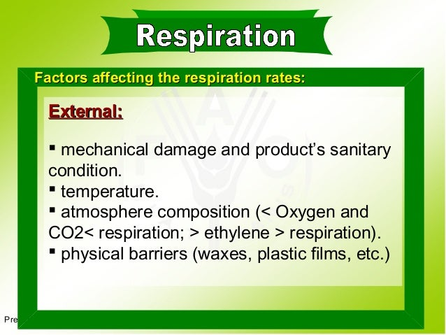 factors affection respiration rate in yeast Factors affecting respiration level 4/national 4 learning intentions by investigating respiration, i can describe its purpose in living organisms and can describe.