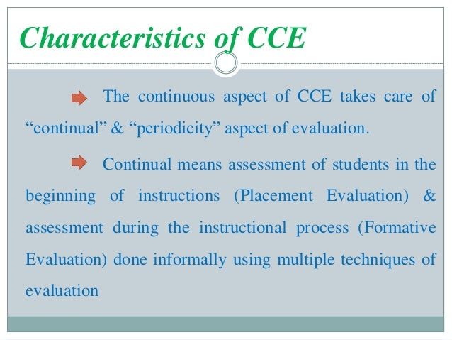 Continuous and comprehensive evaluation in mizoram