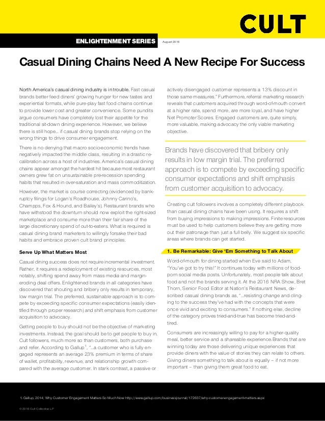 North America's casual dining industry is in trouble. Fast casual brands better feed diners' growing hunger for new tastes...