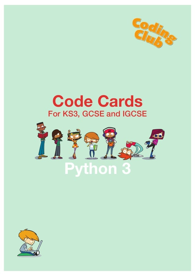 Code Cards For KS3, GCSE and IGCSE Python 3