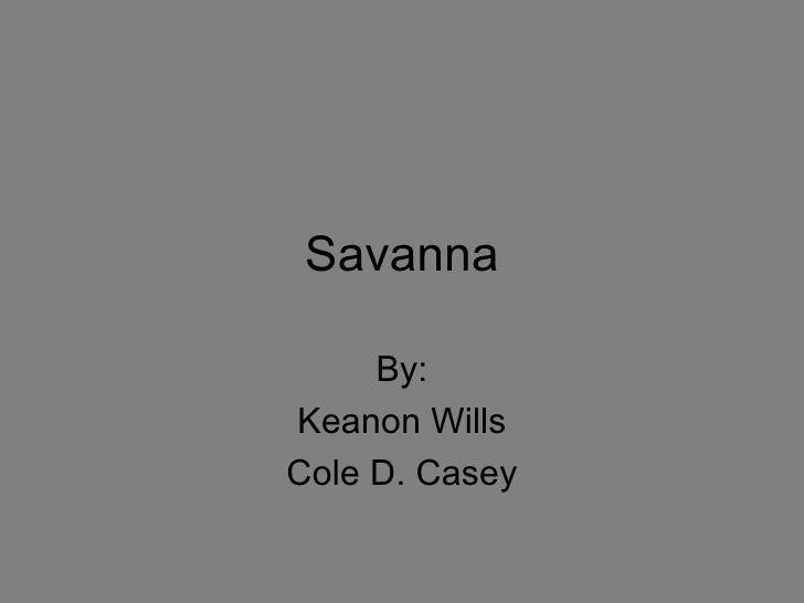 Savanna By: Keanon Wills Cole D. Casey