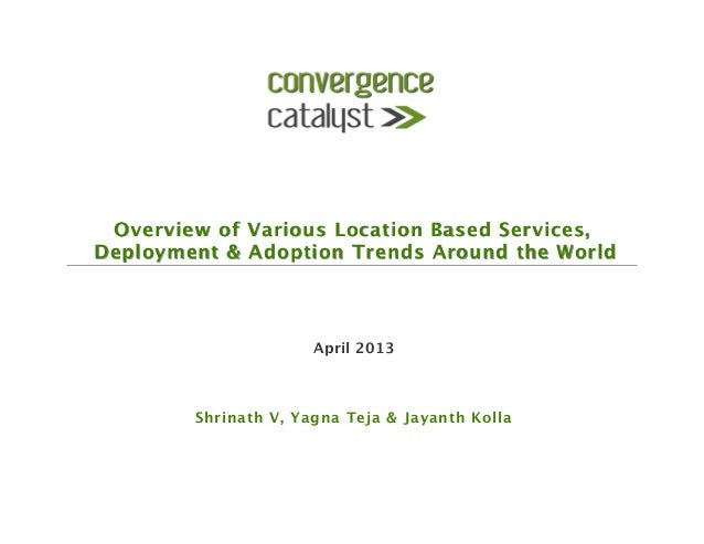 Overview of Various Location Based Services,