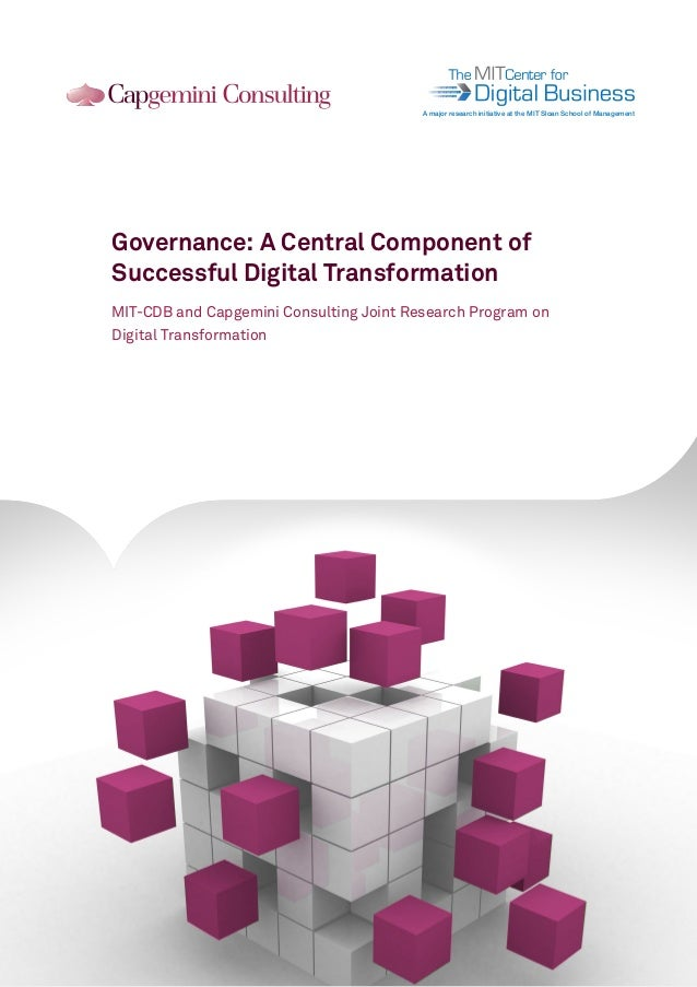 101011010010 101011010010 101011010010  A major research initiative at the MIT Sloan School of Management  Governance: A C...