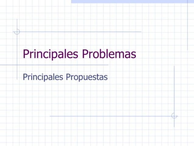 CC - Principales Problemas