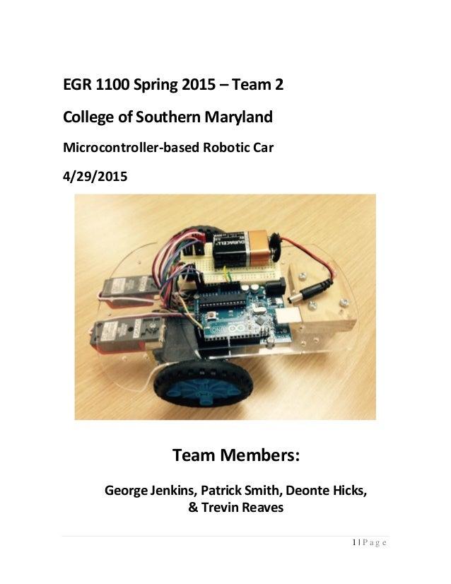 Arduino line following robot technical report
