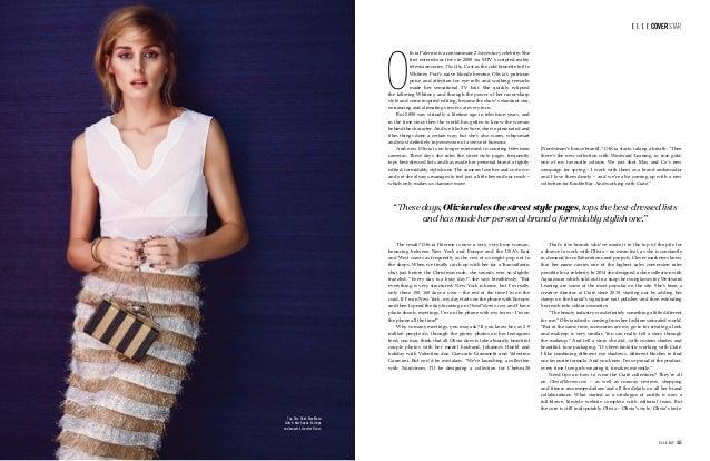 Top, Dior. Skirt, Max Mara. Clutch, Kate Spade. Earrings and bracelet, Jennifer Fisher. ELLE. MY 35 COVER STAR O livia Pal...