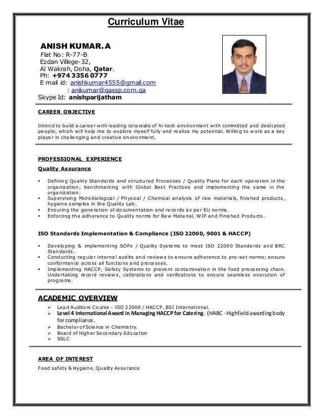 Anish kumar cv updated - Salaire net commis de cuisine ...