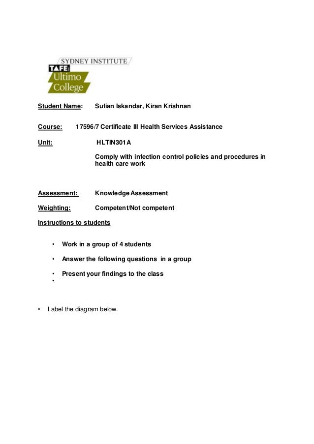Sufian Iskandar Infection Worksheet