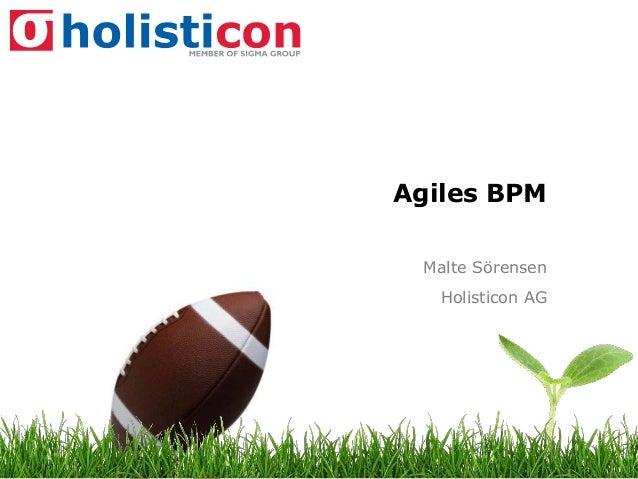 Malte Sörensen Holisticon AG Agiles BPM