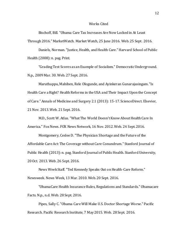 essay against obamacare