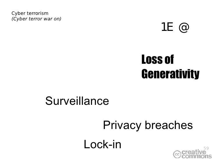 Cyber terrorism (Cyber terror war on) Privacy breaches Loss of Generativity Lock-in Surveillance DRM