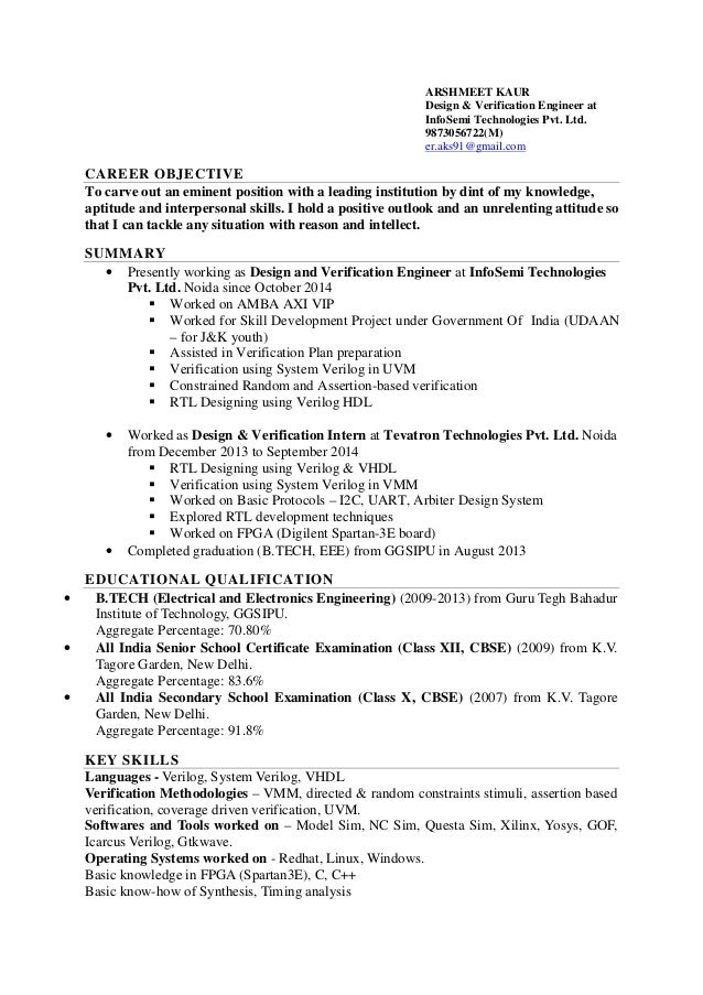 arshmeet kaur resume rtl design and verification fpga