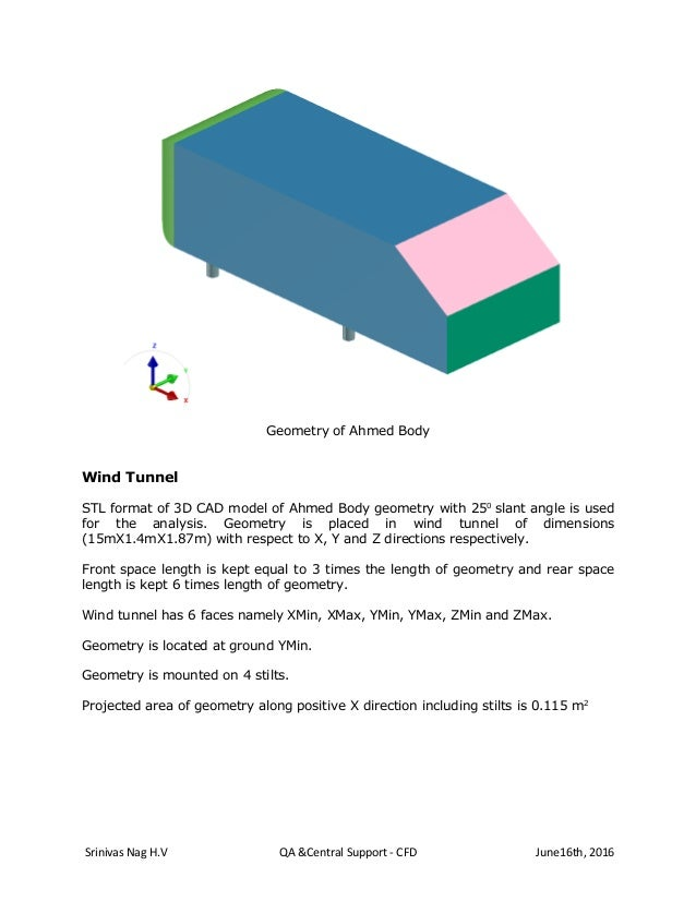 OpenFoam Simulation of Flow over Ahmed Body using Visual CFD