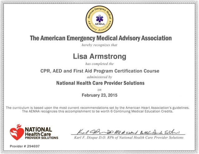 CPR AED Certificate 2.23.15