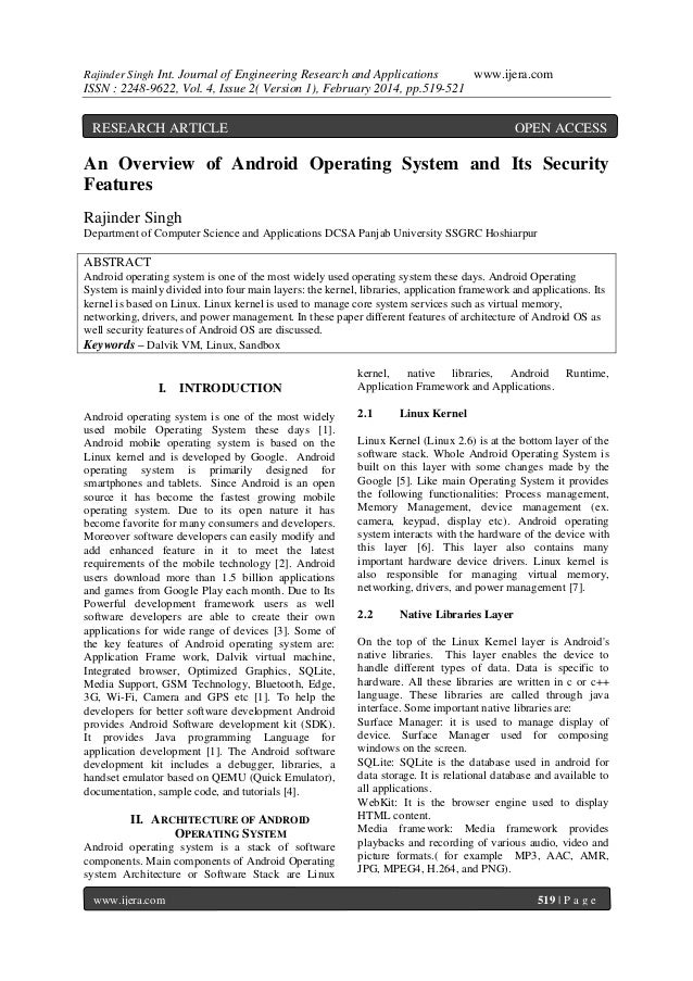 Rajinder Singh Int. Journal of Engineering Research and Applications  www.ijera.com  ISSN : 2248-9622, Vol. 4, Issue 2( Ve...