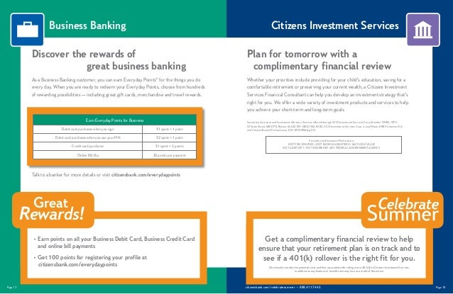Citizens bank celebrate summer catalog business premier savings account 10 page 17 citizensbankcelebratesummer colourmoves