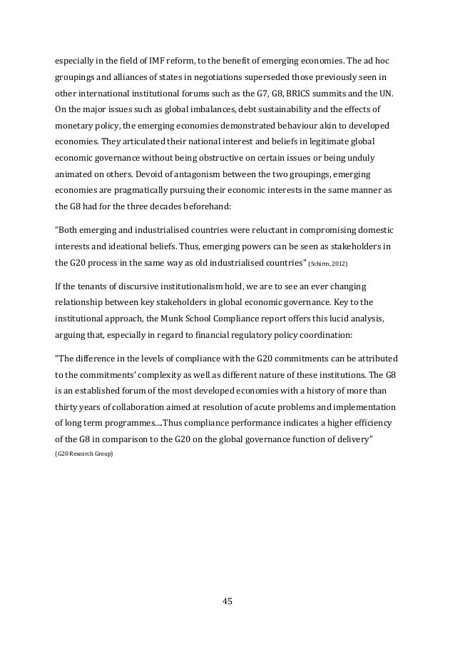 Governing Global Trade International Institutions in Conflict and Convergence The G8 and Global Governance Series