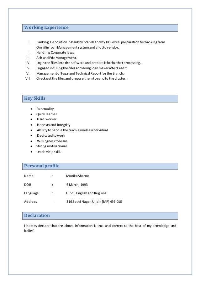 monika resume