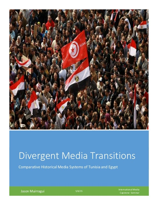 Divergent Media Transitions Comparative Historical Media Systems of Tunisia and Egypt Jason Muirragui 5/6/15 International...