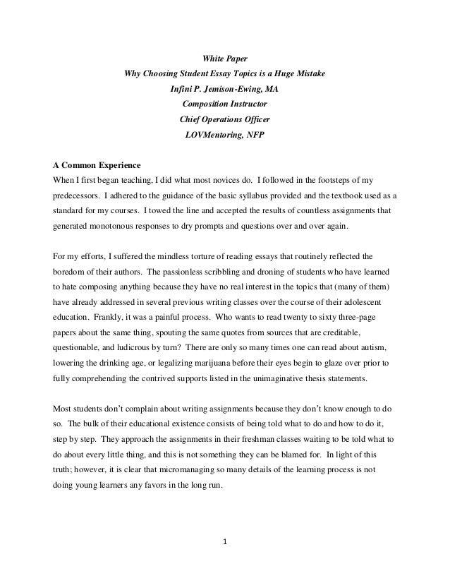 A big mistake essay