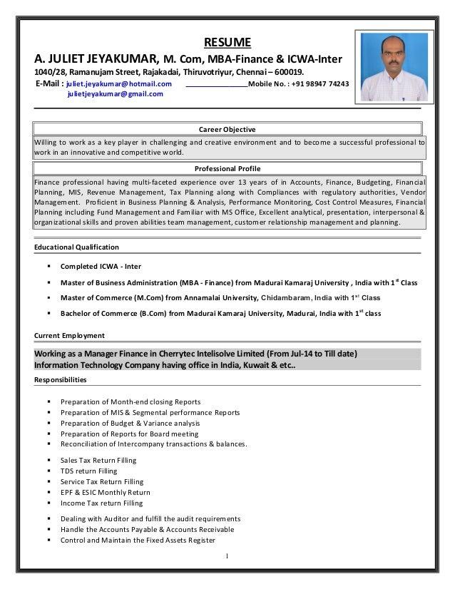 juliet resume