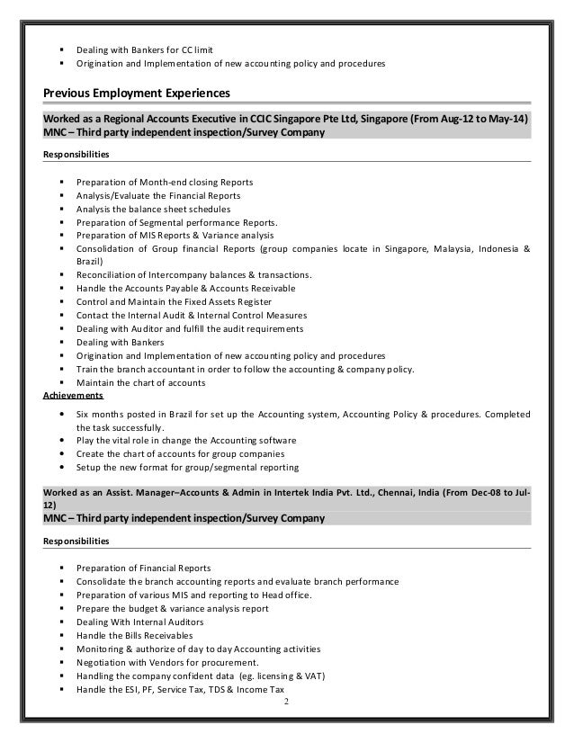 Handle Accounts Payable And Receivable Resume