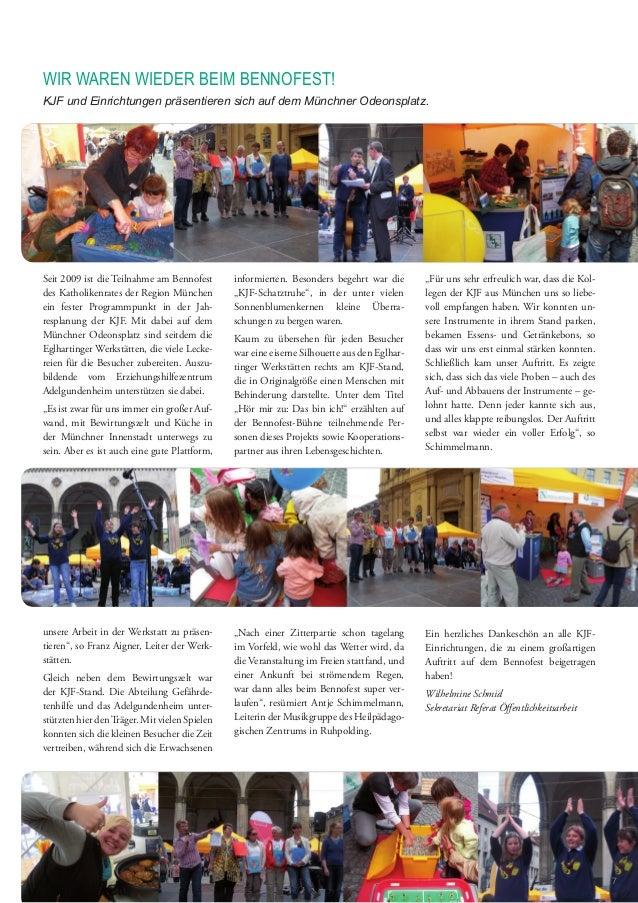 Seit 2009 ist die Teilnahme am Bennofest des Katholikenrates der Region München ein fester Programmpunkt in der Jah- respl...