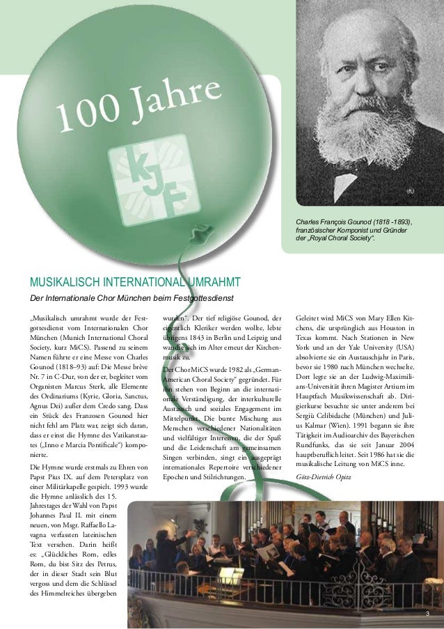 """""""Musikalisch umrahmt wurde der Fest- gottesdienst vom Internationalen Chor München (Munich International Choral Society, k..."""