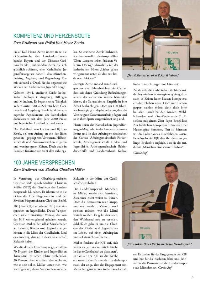 Prälat Karl-Heinz Zerrle übermittelte die Glückwünsche des Landes-Caritasver- bandes Bayern und der Diözesan-Cari- tasverb...