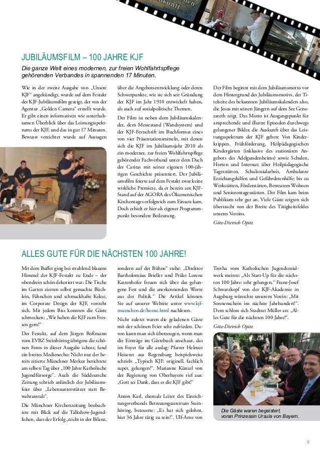 """Wie in der zweite Ausgabe von """"Unsere KJF"""" angekündigt, wurde auf dem Festakt der KJF-Jubiläumsilm gezeigt, der von der Ag..."""