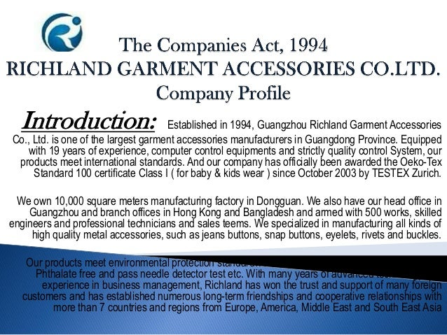 Introduction: Established in 1994, Guangzhou Richland Garment Accessories Co., Ltd. is one of the largest garment accessor...
