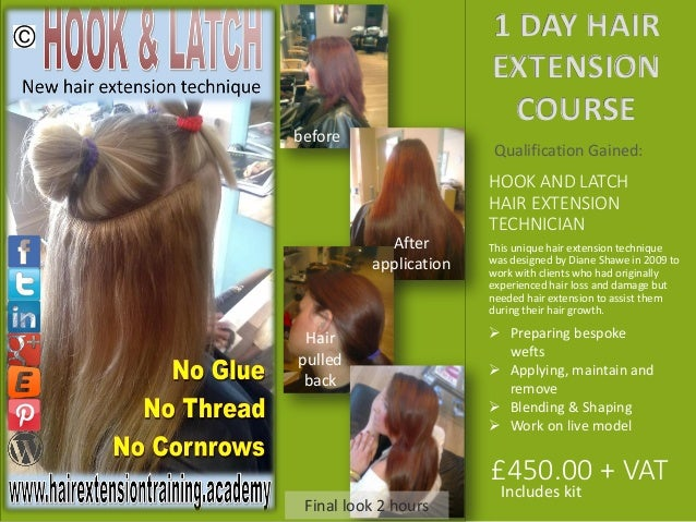 Uk hair extension training academy course prospects 2015 2016 diane s 10 hook and latch hair extension pmusecretfo Gallery