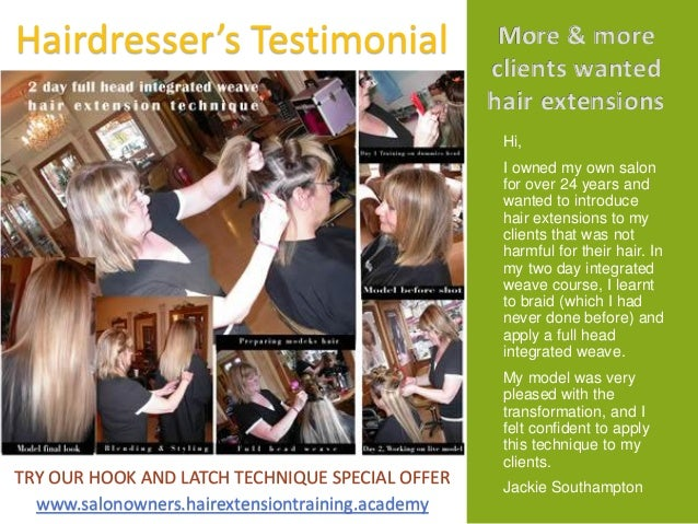 UK Hair Extension Training Academy Course Prospects 2015 2016 Diane S