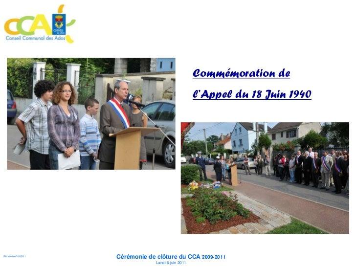 Commémoration de                                                       l'Appel du 18 Juin 1940                      Cérémo...