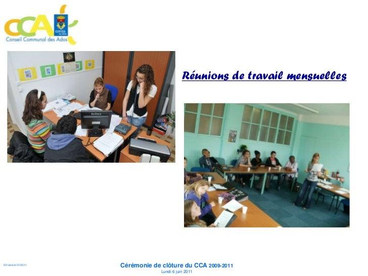 Des réunions plénières                      Des concertations                      Des bilans                             ...