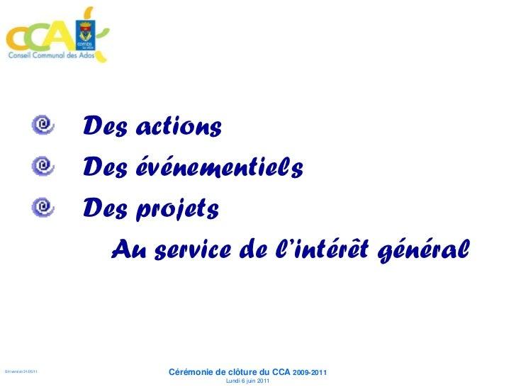 Des actions                      Des événementiels                      Des projets                        Au service de l...