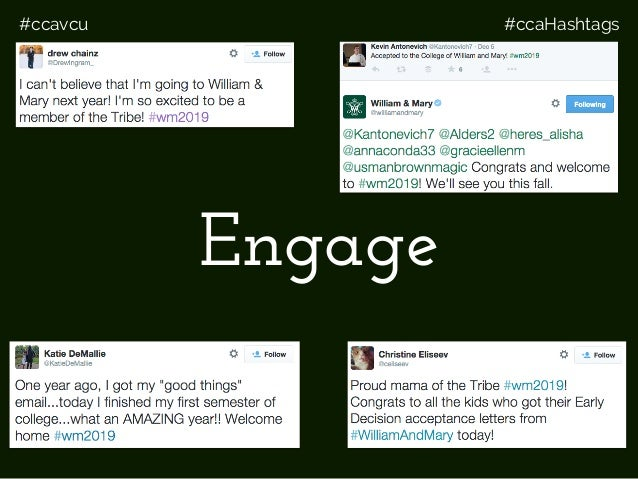 #ccavcu #ccaHashtags Engage