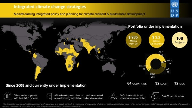 Integrated climate change strategies Mainstreaming integrated policy and planning for climate-resilient & sustainable deve...