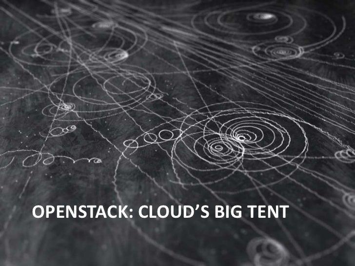 OpenStack: Cloud's Big Tent<br />