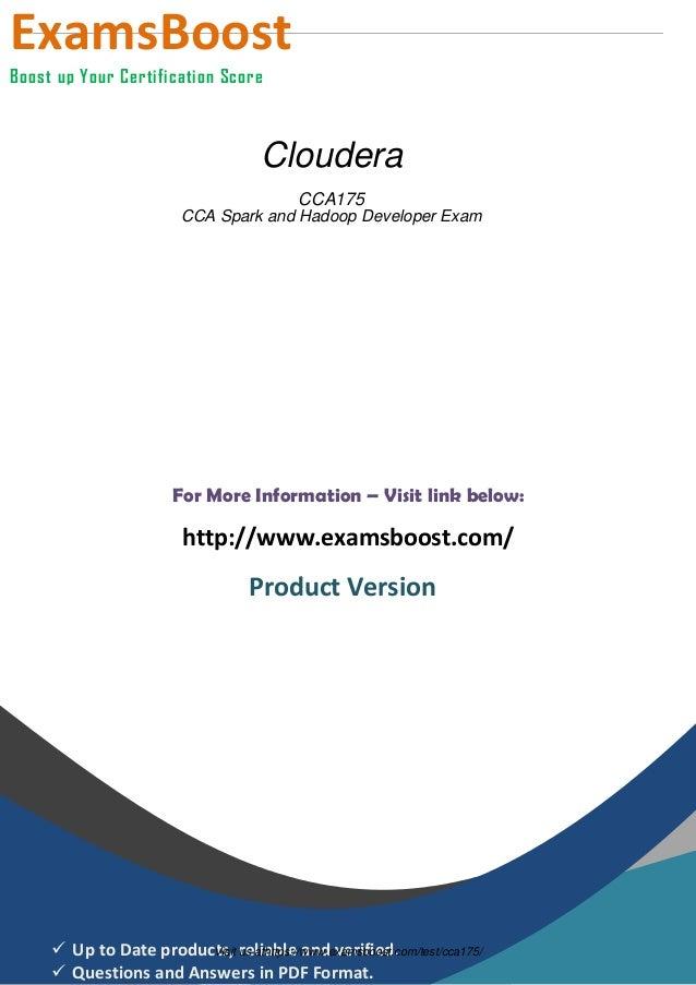 Cloudera Certification Cca175 Training Best Cloud 2018
