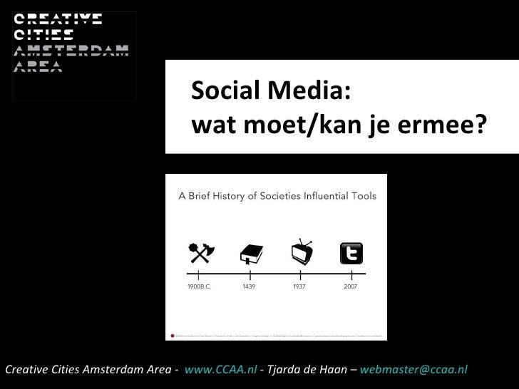 Social Media:  wat moet/kan je ermee?