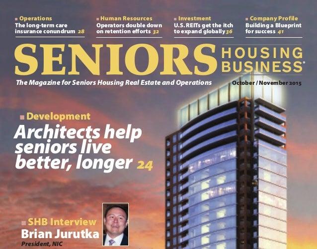 seniors housing business magazine cover partial view
