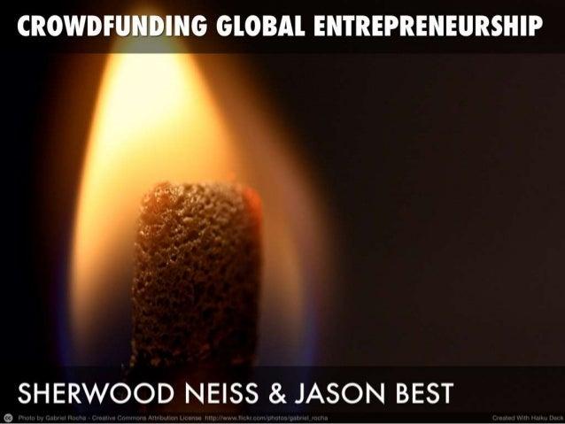 CCA Crowdfunding SXSW Presentation - Crowdfunding Global Entrepreneurship